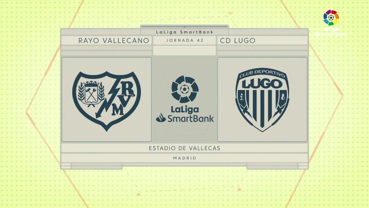 LaLiga SmartBank (J42): Resumen y goles del Rayo Vallecano 0-1 Lugo