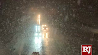 Northwest Las Vegas sees heavy snow fall
