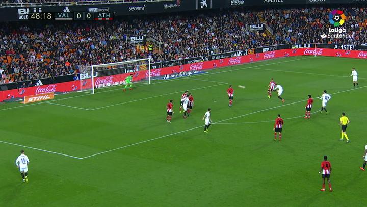LaLiga: Valencia - Athletic Bilbao. Gol de Rodrigo Moreno en el minuto 49 (1-0)
