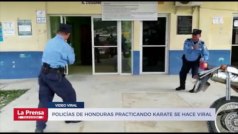 Video de Policías de Honduras practicando karate se hace viral