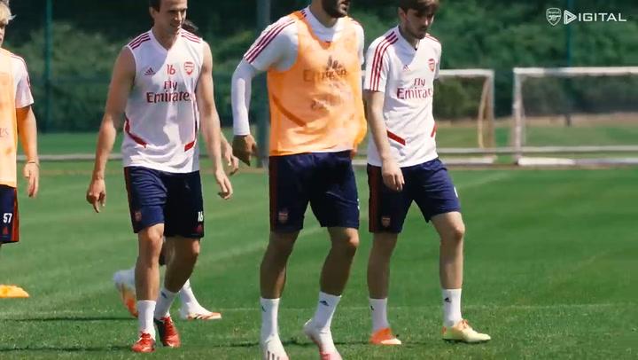 Un entrenamiento de Torreira con el Arsenal