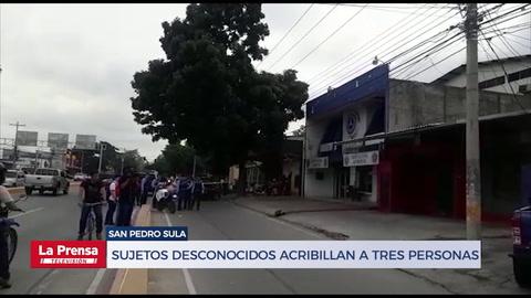 Sujetos desconocidos acribillan a tres personas en San Pedro Sula