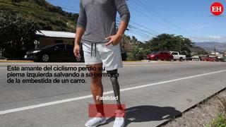 Nahun Reina, el ciclista hondureño que pedalea con una sola pierna para superar retos