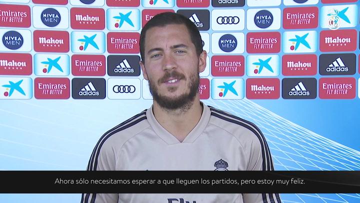 """Hazard: """"Después de dos meses fuera necesito más trabajo físico y más balón"""""""