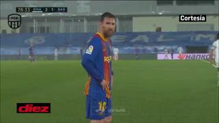 Messi temblando de frío en el Di Stéfano ¡se congeló y pidió cambio de camiseta!