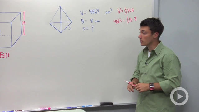 Volume of Pyramids - Problem 2