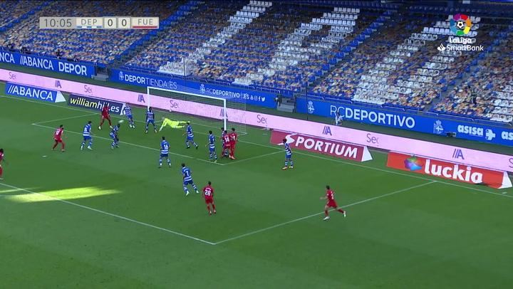 Gol de Pathe Ciss (0-1) en el Deportivo 2-1 Fuenlabrada