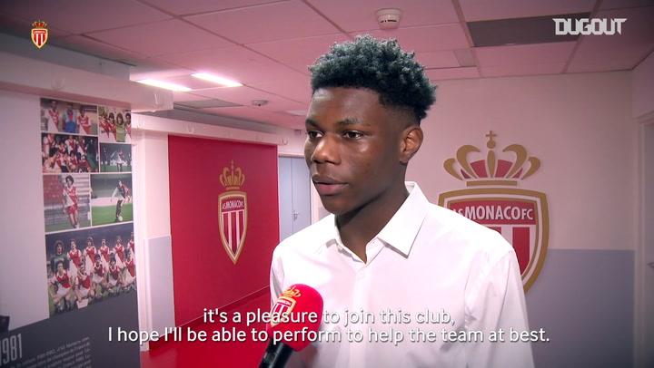 Aurélien Tchouaméni's first words as an AS Monaco player