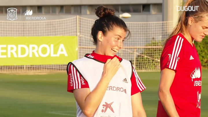 Free-kick goals in Spain Women's training