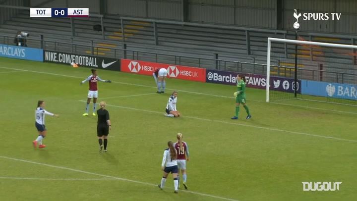 Alex Morgan nets second Spurs Women's goal in win over Aston Villa