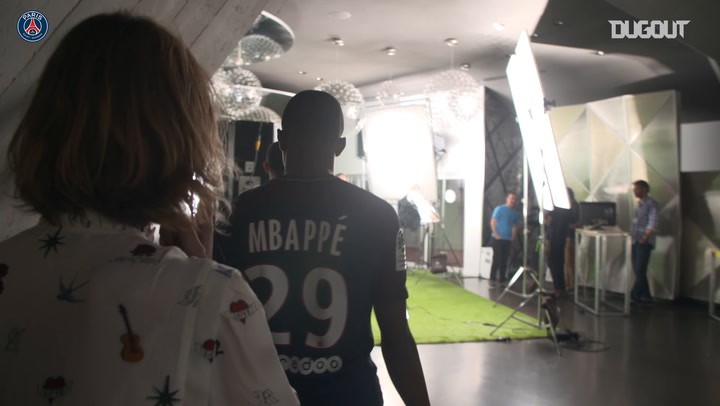 Mbappé First Photoshoot As A PSG Player