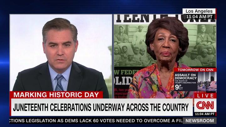 Maxine Waters on CNN, 6/19/2021