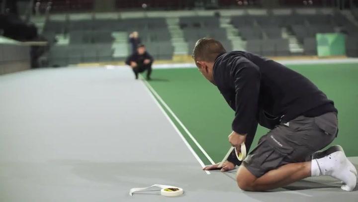 La Caja Mágica ya está preparada para albergar la fase final de la Copa Davis
