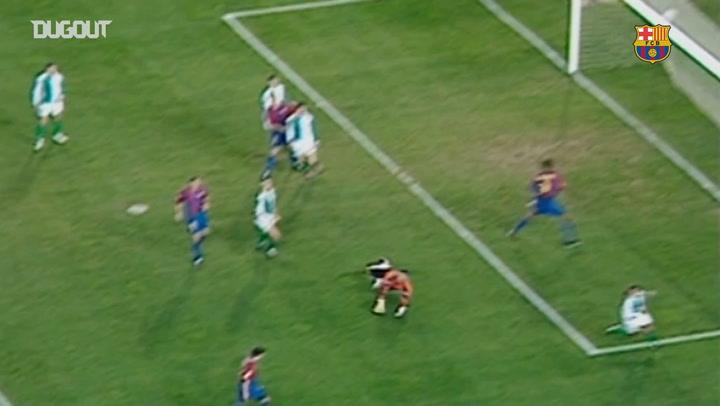 El Hat-trick de Javier Saviola ante el Betis