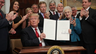 Free market victory: Trump signs executive order kick-starting Obamacare repeal
