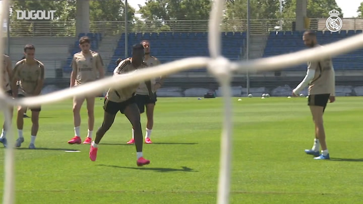Real Madrid's final session of the week