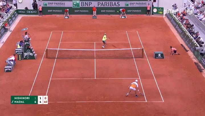 Roland Garros elige como puntazo de la semana éste de Rafa Nadal