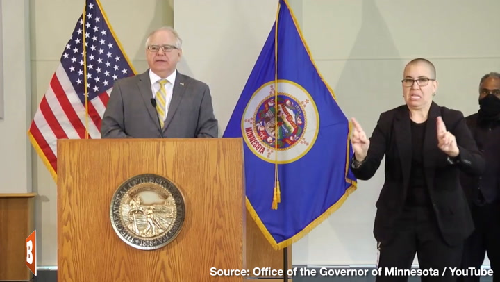 Gov. Walz: Last Thing on Rioters' Minds While 'Burning Down Family-Owned Store at 3 A.M. Was George Floyd'