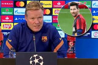 Barcelona: Koeman confirma por qué Messi se pierde otro partido de la Champions League
