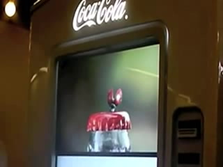 Coca-Cola vending machine marries self-service and digital signage