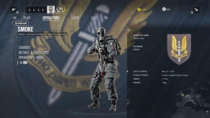 'Rainbow Six' Profile: Smoke