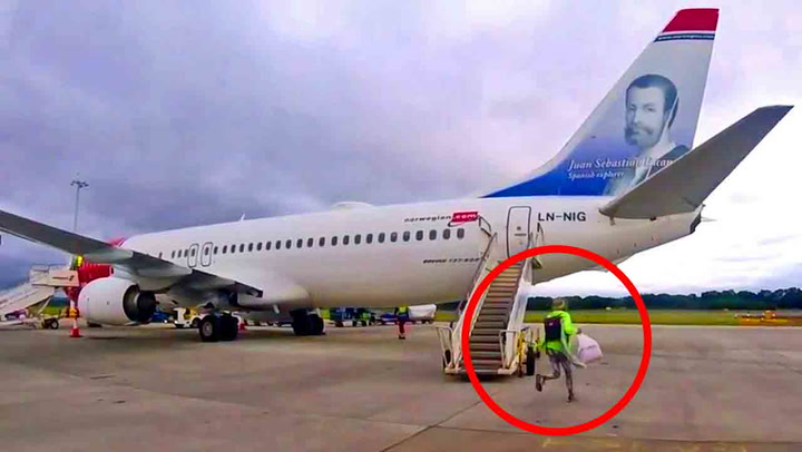 Vågal kvinne legger på sprang mot flyet: –Vil du bli drept!?