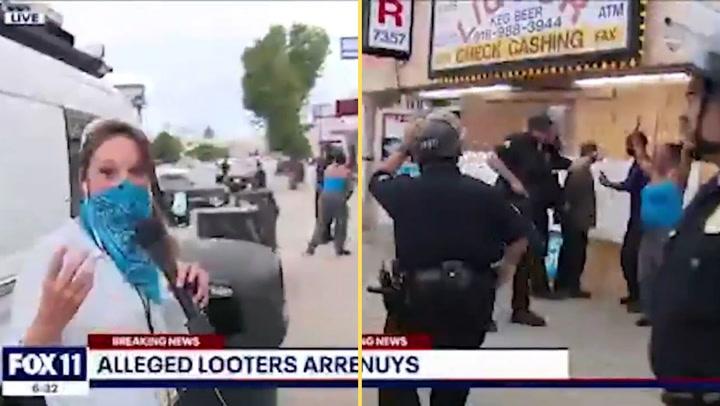 Una reportera graba el intento de asalto a una tienda y la policía detiene a los propietarios