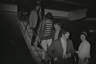 The Beatles arrive in Las Vegas 1964