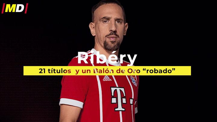 """Ribéry: 21 títulos con el Bayern  y un Balón de Oro """"robado"""""""
