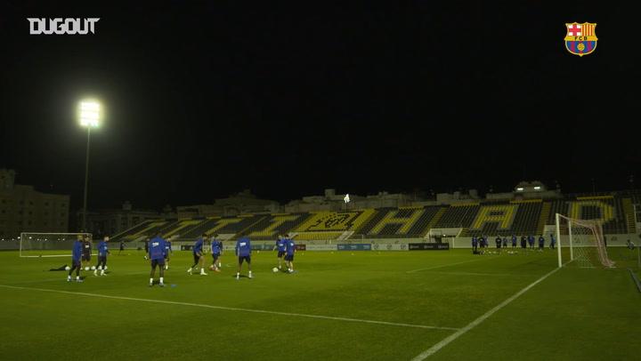 Final FC Barcelona Training Session ahead of semi-final tie