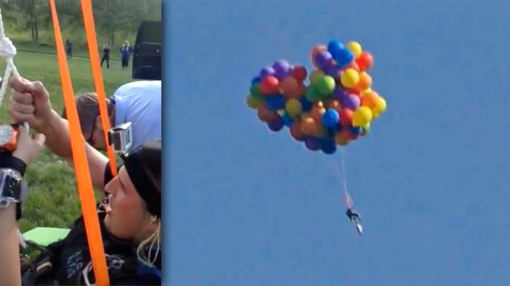 Med 120 ballonger forsvant han til himmels, feiget ut og ble arrestert
