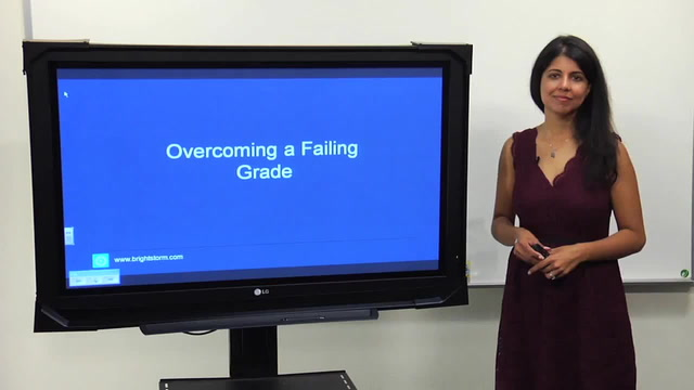 Overcoming a failing grade