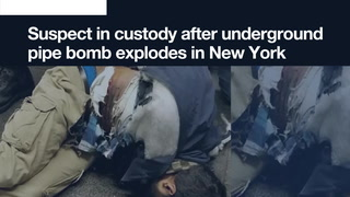 Today's 90-second news update: Suspect in custody after underground pipe bomb explodes in New York