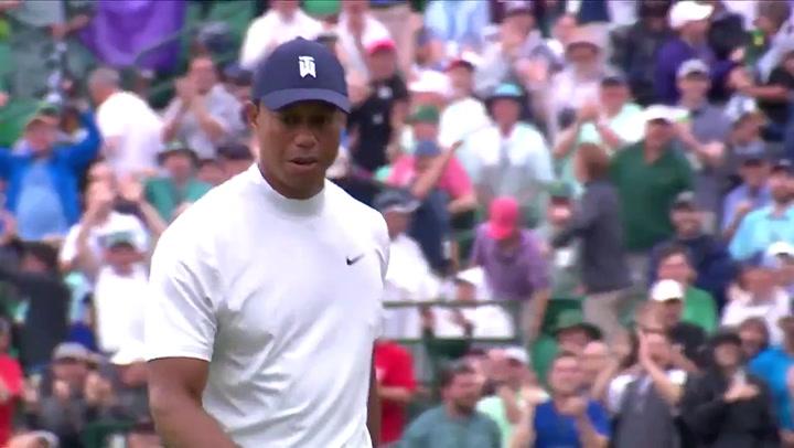 Gran putt de Tiger Woods en el Masters de Augusta