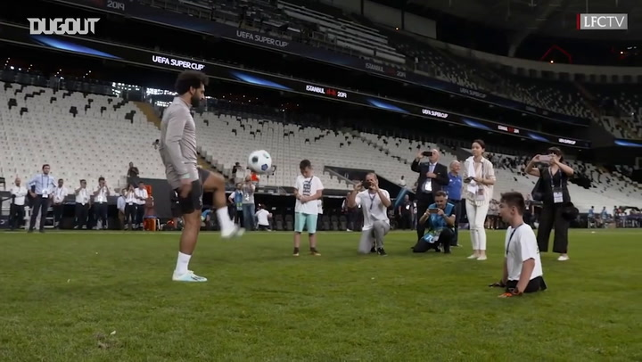 Mohamed Salah Plays Keepy Ups With UEFA Foundation Children