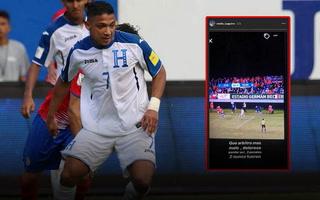 Emilio Izaguirre se destapa en redes sociales contra el árbitro del Chile-Honduras