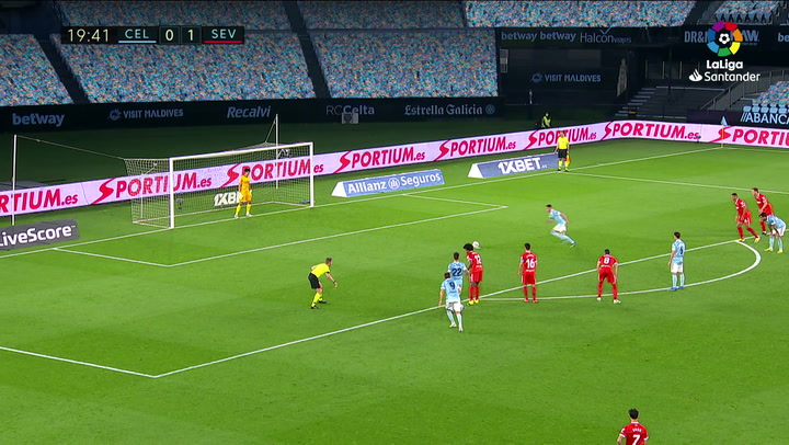 Gol de Aspas (p.) (1-1) en el Celta 3-4 Sevilla