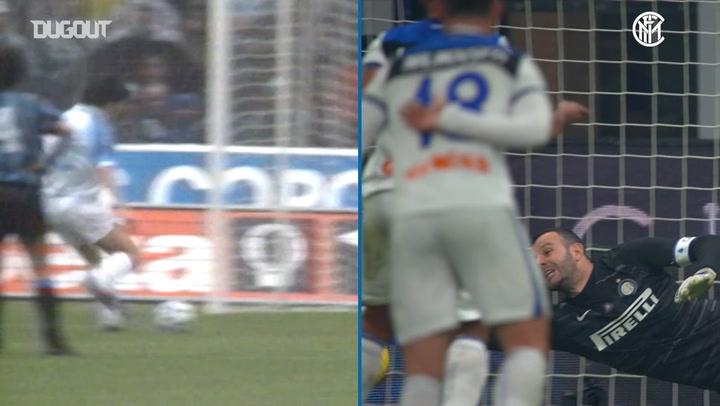 Handanović vs Zenga penalty saving masterclass