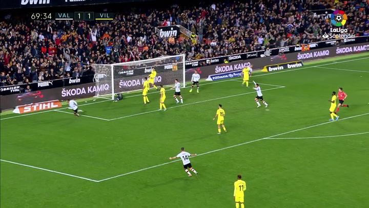 Gol de Ferran (2-1) en el Valencia 2-1 Villarreal