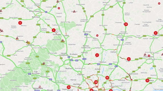 M25: Traffic building following accident in Grays