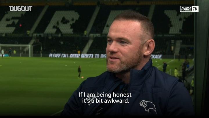 Wayne Rooney discusses Pride Park welcoming