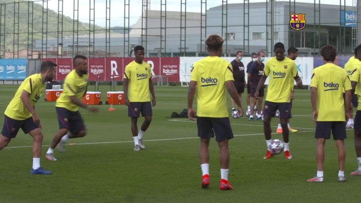 El Barça sigue preparando el encuentro ante el Nápoles