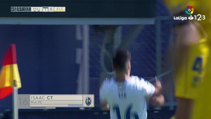 LaLiga 1|2|3: Rayo Majadahonda - Alcorcón (2-0). Gol de Carcelén (2-0)
