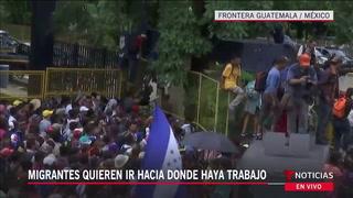 URGENTE: Caravana migrante de hondureños ingresa a México