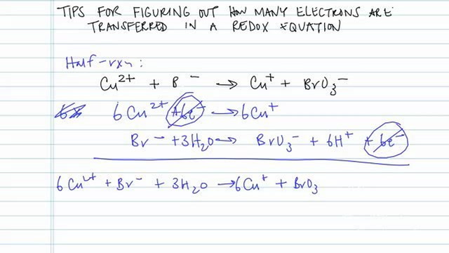 How Many Electrons Are Transferred in Redox Equations