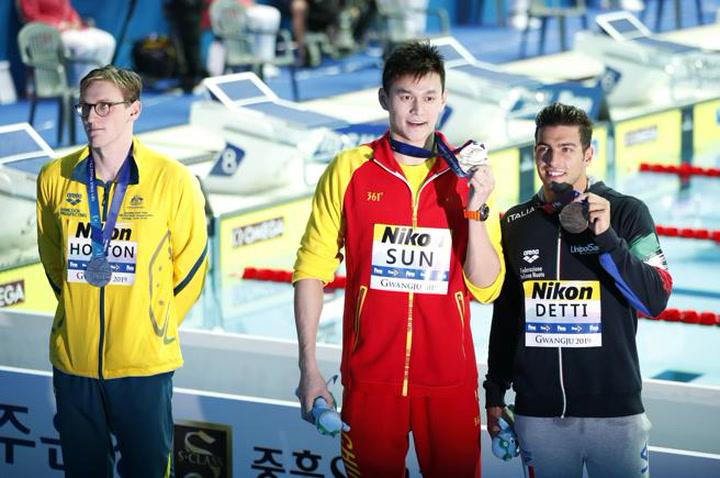 Mack Horton rechazó dar la mano al nadador chino Sun Yang