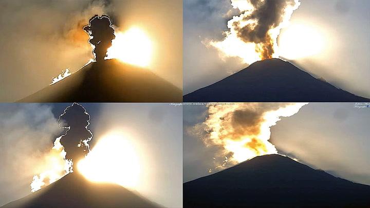 Magisk vakkert: Vulkanutbruddet traff rett i sollyset