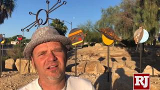 Artist Randy Mendre talks about his sculpture