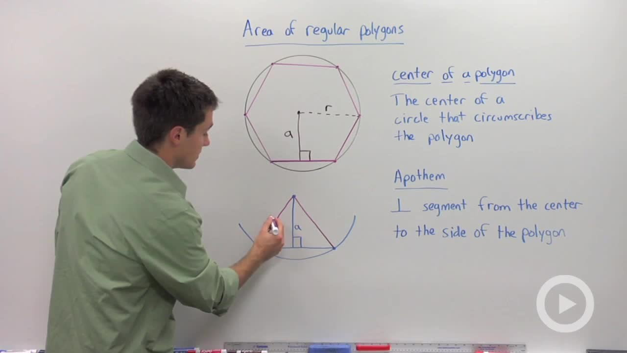Center And Apothem Of Regular Polygons  Concept  Geometry Video By  Brightstorm