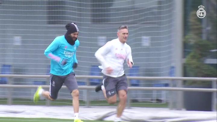 Primer entrenamiento de la semana del Real Madrid en la Ciudad Deportiva